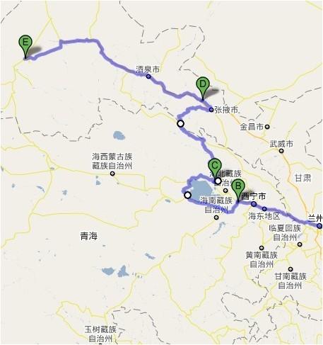 西宁-青海湖-祁连-嘉峪关-敦煌(-乌鲁木齐)